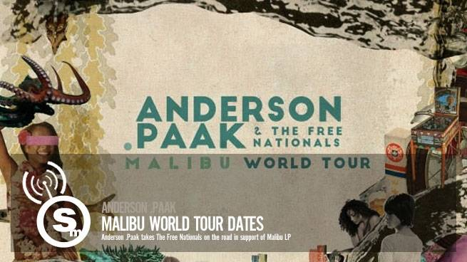 Anderson .Paak Malibu World Tour Dates